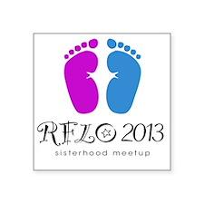 """rflo meetup Square Sticker 3"""" x 3"""""""