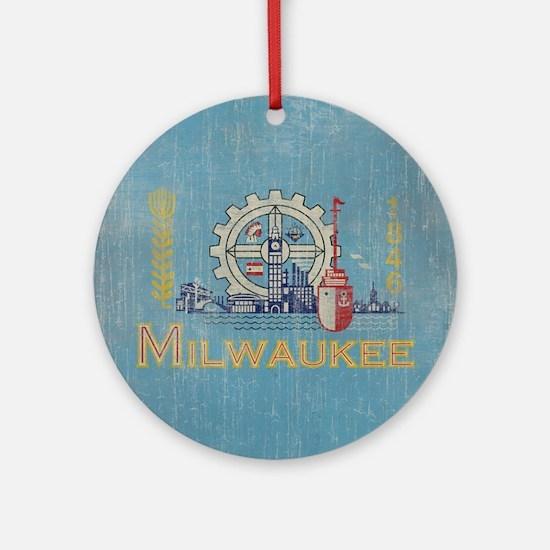 Milwaukee Round Ornament