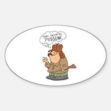 Redneck Possum' Hunter Oval Bumper Stickers