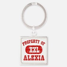 Property of Alexia Square Keychain