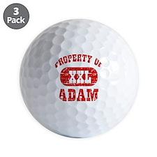 Property of Adam Golf Ball
