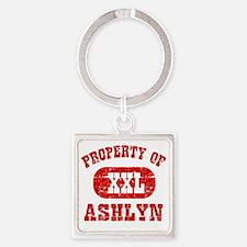 Property of Ashlyn Square Keychain