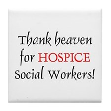 Thank Heaven Hospice BRT Tile Coaster