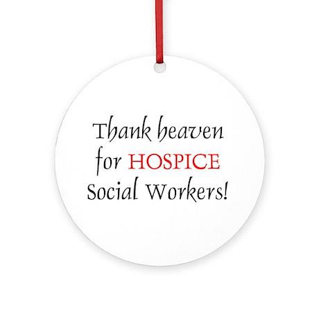 Thank Heaven Hospice BRT Ornament (Round)