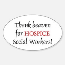 Thank Heaven Hospice BRT Oval Decal