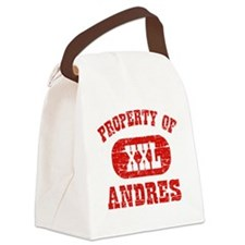 Property of Andres Canvas Lunch Bag