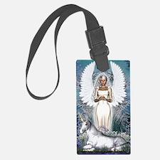 Angel and Unicorn Luggage Tag