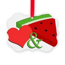 Love and Watermelon Picture Ornament