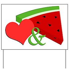 Love and Watermelon Yard Sign