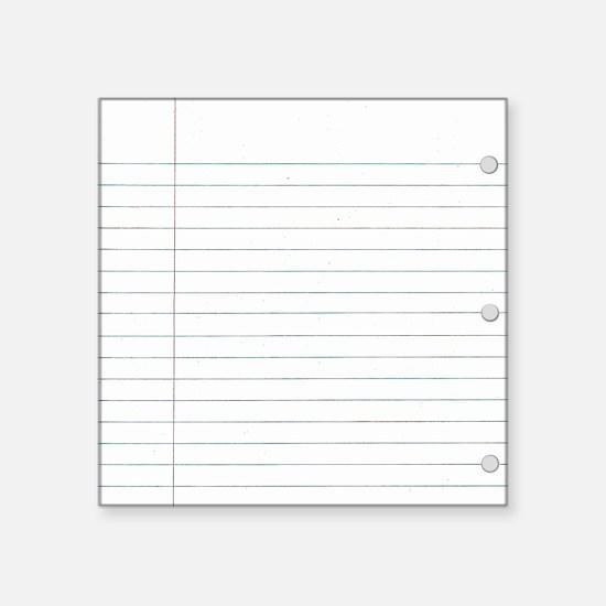 """School paper Square Sticker 3"""" x 3"""""""