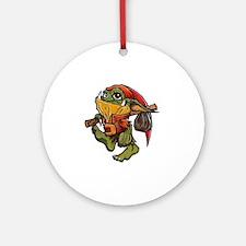 Traveling Goblin Round Ornament