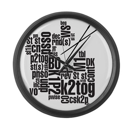 K.A. Black Large Wall Clock