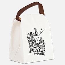 K.A. Black Canvas Lunch Bag