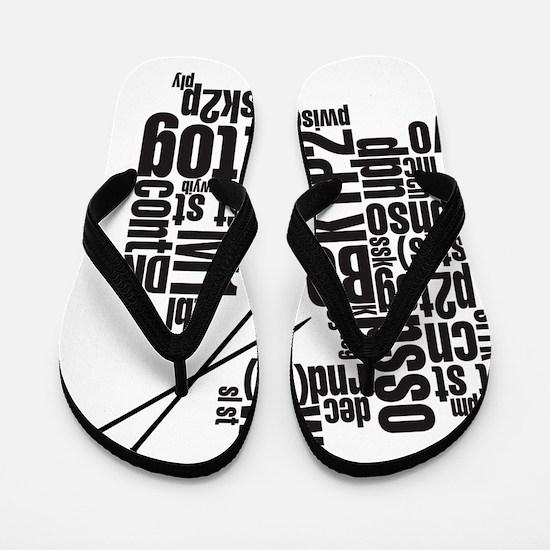K.A. Black Flip Flops