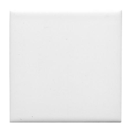 K.A. White Tile Coaster