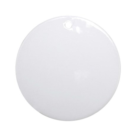 K.A. White Round Ornament