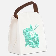 K.A. Blue Canvas Lunch Bag