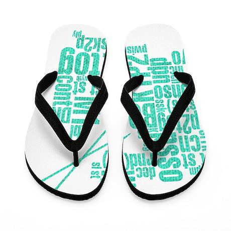 K.A. Blue Flip Flops