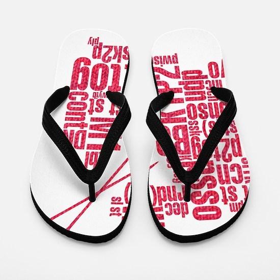 K.A. Pink Flip Flops