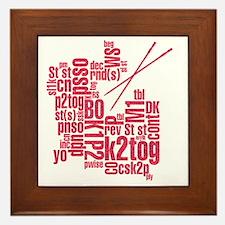 K.A. Pink Framed Tile