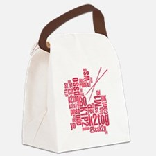 K.A. Pink Canvas Lunch Bag
