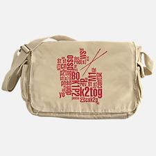 K.A. Pink Messenger Bag