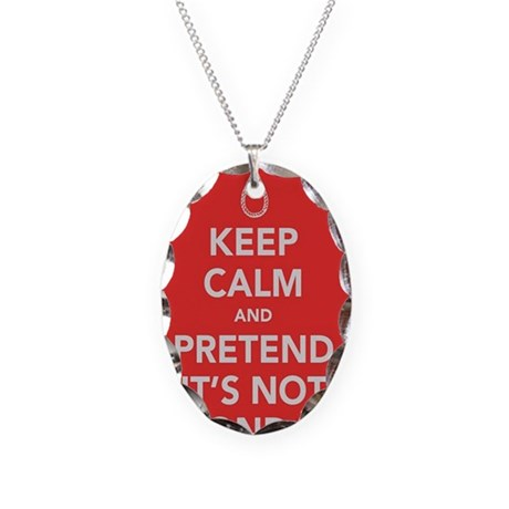 Its not Monday Necklace Oval Charm