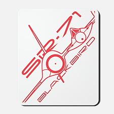 SR-71 Blackbird Diagonal Dive Mousepad