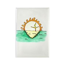 Chalice Sun Rectangle Magnet