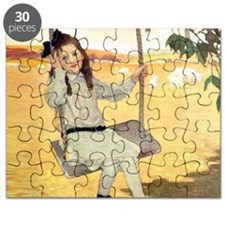 Little Girl on a Swing Puzzle