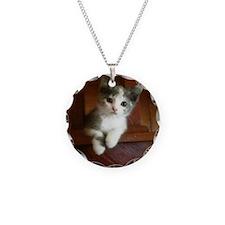 Adorable Calico Kitten Necklace