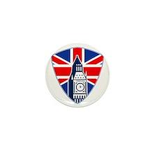 Big Ben British Flag Shield Mini Button