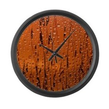 Shower Curtain 01 Large Wall Clock