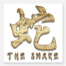 "Snake54 Square Car Magnet 3"" x 3"""