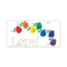 Love Roses Aluminum License Plate