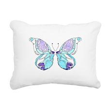 Purple and blue butterfl Rectangular Canvas Pillow