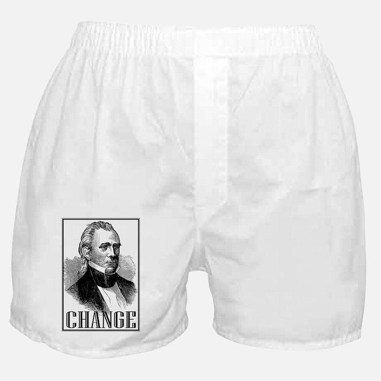 Change is... James K. Polk Boxer Shorts