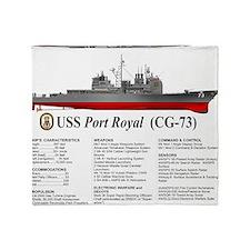 USS Port Royal CG-73 Throw Blanket
