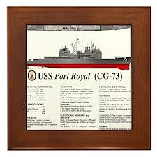 USS Port Royal CG-73 Framed Tile