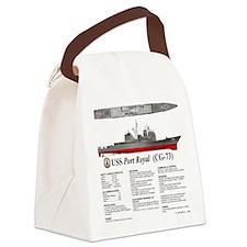 USS Port Royal CG-73 Canvas Lunch Bag