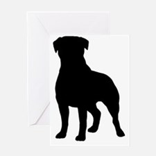 rottieblk Greeting Card