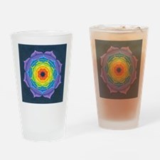 Rainbow Lotus Mandala Drinking Glass