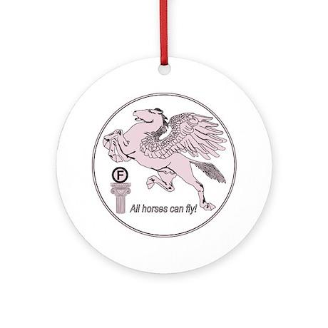 Pegasus_Prime_Violet_Round Round Ornament