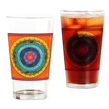 Gypsy Wagon Chakra Mandala Drinking Glass