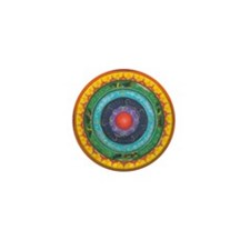 Gypsy Wagon Chakra Mandala Mini Button