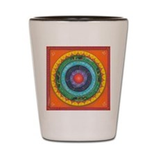 Gypsy Wagon Chakra Mandala Shot Glass