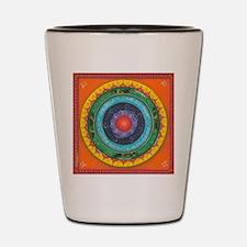 Gypsy Wagon Chakra Mandala Shot Glass
