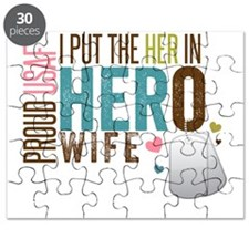 I Put the Her in Hero Proud USAF Wife Puzzle