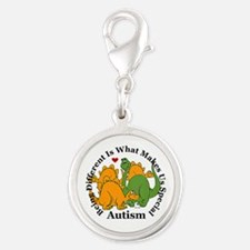 Autism Silver Round Charm
