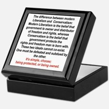 CONSERVATISM OR LIBERALISM Keepsake Box